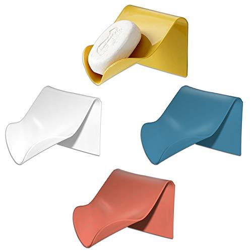 2Pak Eco-Friendly Soap Bar Holder for Shower, Wall Self Draining Soap...