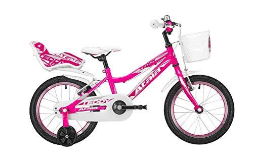 Atala Nuovo Modello 2020 Bicicletta da Bambino Teddy Girl, Colore Fucsia, Altezza Massima 120cm, Telaio in Acciaio.
