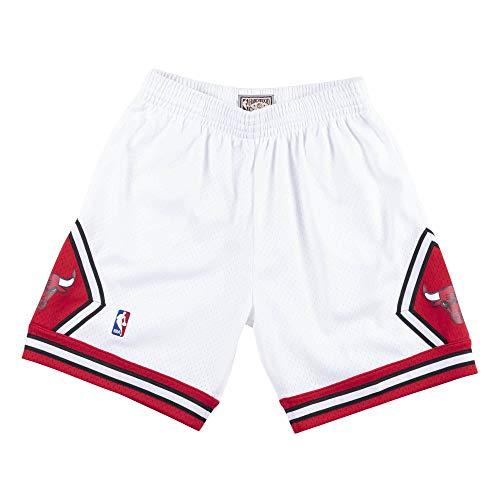 Mitchell & Ness - Pantaloncini NBA Chicago Bulls 1997-98 Swingman, colore: Bianco, multicolore, XXL