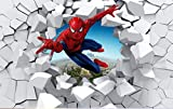 Papier Peint Spiderman Personnalisé 3d Photo Papier Peint Super Héros Papier Peint Garçons Chambre Salon Pépinière Designer Chambre Décor