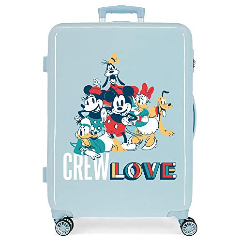 Disney Always Original Medium Suitcase Blue 48 x 68 x 26 cm Rigid ABS Side Combination Closure 70L 3.3 kg 4 Double Wheels