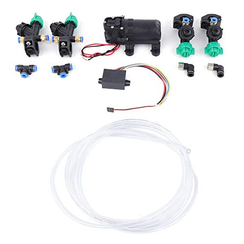 OUKANING 12V Agriculture Drone Spray System(Screws Fixed) Water Pump + Nozzles + Step-Down Module + Pipes Set Brush Screws Fixed Water Pump Set for Agriculture Drone Sprayer Nozzles
