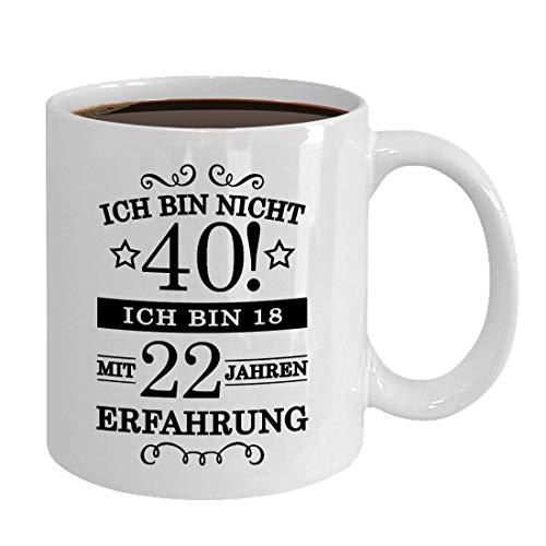 """Taza de café con texto en alemán """"40 años"""", regalo para señora Mann 1981, nacida (40 años, 330 ml)"""