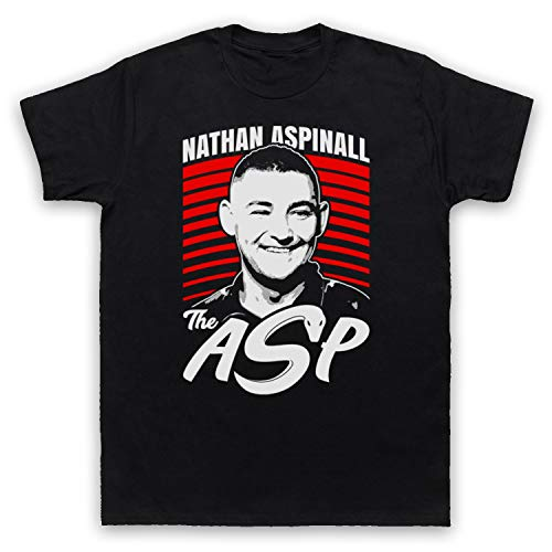 My Icon Art & Clothing Nathan Aspinall The Asp Darts Tribute English Player Herren T-Shirt, Schwarz, 2XL