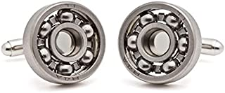 Tokens & Icons Steel Ball Bearing Cufflinks (12BB)