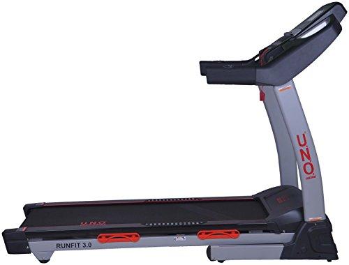 U.N.O. Fitness Erwachsene Runfit 3.0 Laufband, Schwarz/Grau, S