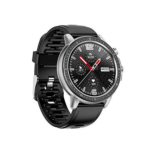 LZXMXR Reloj Elegante, de 1,3 Pulgadas de Alta definición Full-Pantalla táctil Ronda, a Todo Color de la Pantalla de Interfaz de Usuario Smart Control Dinámico Tiempo Pulsera de Deportes, for Android