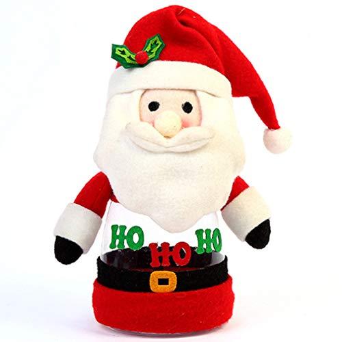 Schwenly - Tarro de dulces de Navidad, para fiestas festivas, accesorios de almacenamiento de alimentos, Papá Noel