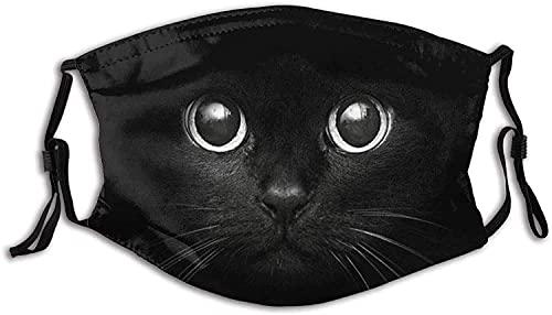 Mascarilla de cara de gato divertida con bolsillo de filtro, lavable, pasamontañas,...