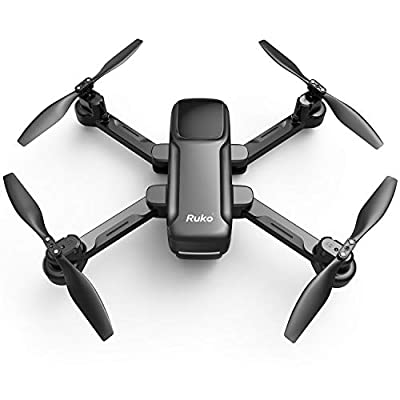 Ruko U11 GPS Drone with Camera, 4K UHD FPV Quadcopter Drones for Adults with Auto Return Home, Follow Me, Tap Fly, 20 Mins Flight Time, Easy to Use for Beginner (2 Batteries and Carrying Case) - Black