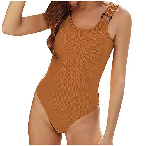YANFANG Traje de Bao Sexy para Mujer,de una Pieza Bikini para Mujer Push-Up Pad Traje de bao Traje de bao Ropa de Playa,Bikini Mujer Brasileo Push Up Ropa de Bao Natacion Baador Playa,