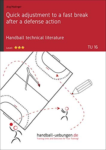Quick adjustment to a fast break after a defense action (TU 16): Handball technical literature (Training unit) (English Edition)