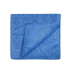 WAYYQX Sábanas Toalla 5PS Niños Franela Suave Toallas Historieta Conejo Imprimir Manta Toalla Baño Traje Baño Toallita Bebé, Toallones (Color : Blue)