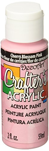 DecoArt Crafter's Acrylic Paint, 2-Ounce, Cherry Blossom Pink
