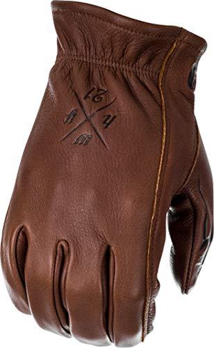 Highway 21 Louie Men's Street Motorcycle Gloves - Brown/Medium