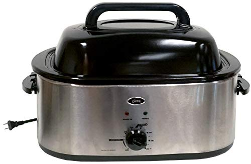 Oster 20 Quart Roaster Oven - Stainless Steel and Self-Basting Lid