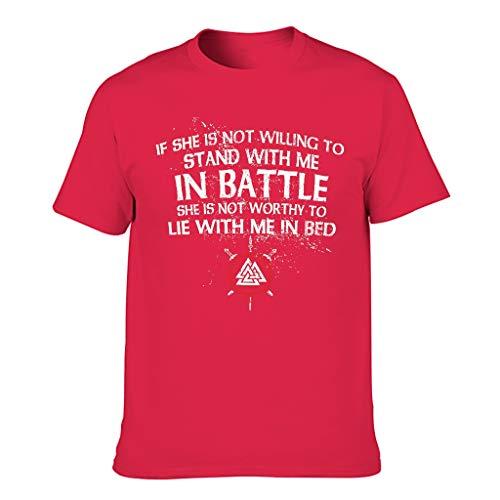Camiseta sarcástica para hombre con diseño vikingo Red1 S