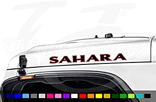 Unique Graphix - Sahara Hood Decal Vinyl Lettering 1 Pair 2 Color