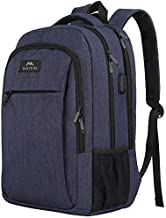 Laptop Backpack with USB Charging Port,Slim Travel Backpack with Laptop Compartment for Men and Women,Water Resistant College School BookBag Computer Bag for Girls and Boys Fits 15.6 In Laptop,Macbook