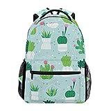 Green Cactus - Mochila escolar de gran capacidad para adultos, adolescentes, mujeres, hombres y niños