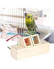 CHICIRIS Suministros para Mascotas comedero para pájaros de Madera, comedero Interactivo para pájaros de Madera, comedero para pájaros Salvajes para