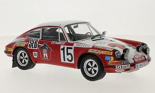 Porsche 911 S, No.15, Rallye Monte-Carlo, 1972, Modellauto, Fertigmodell, Minichamps 1 18