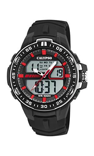 Calypso Watches Reloj Analógico-Digital para Hombre de Cuarzo con Correa en Plástico K5766/4