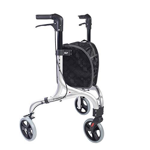 NRS Healthcare NRS Freestyle 3-Rad-Rollator, Silber, 5 kg