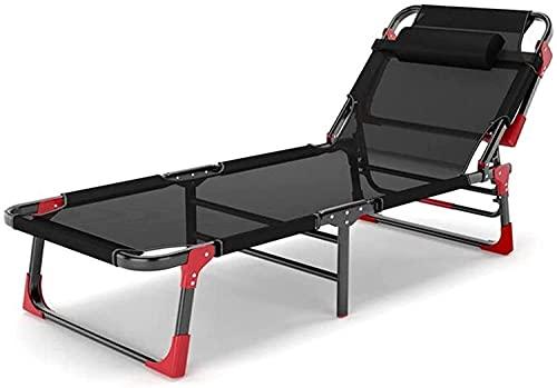 Silla de gravedad cero plegable, silla de cubierta Marco de cama Cama ajustable engranaje para acampar con marco de cama doble, asiento al aire libre-multifunción / respaldo ajustable, fácil de almace
