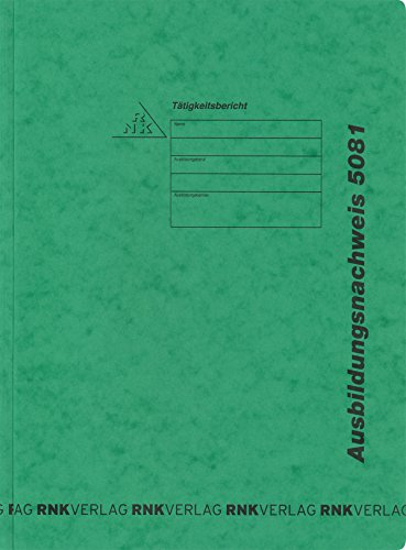 RNK 5081 - Ausbildungsnachweis-Hefter, Maße (BxH) 220 x 310 mm, Spezialkarton, grün, 1 Stück
