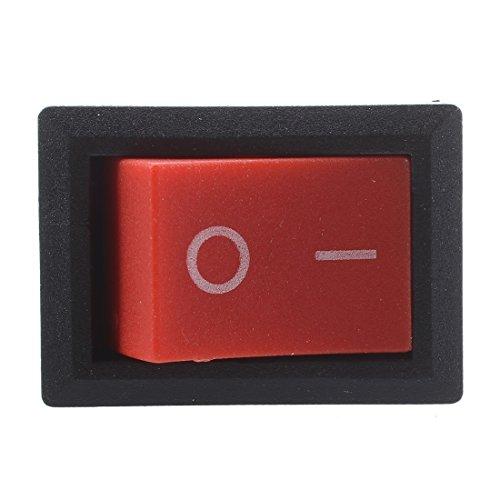 Senmubery 20 pcs x Boton Rojo 2 Pin SPST ON-Off Barco Balancin Interruptor 10A / 125V 6A / 250V AC