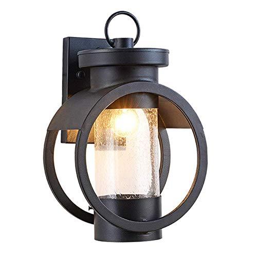 YLLN Lámpara de Pared para Exteriores Vintage, lámpara de Llama de Metal Retro Creativa, lámpara de Pared de Vidrio, lámpara de Pared de aleación de Aluminio Antigua para Bar Restaurante cafeterí