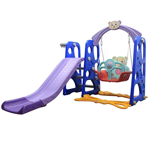 Baby Multi-function Slide,Toddler Mountaineering And Swing Set, Suitable For Indoor And Backyard Baskets,Children's Slide Frame, Climbing Stairs,Indoor And Outdoor UseSuitable for: 3-9 years old