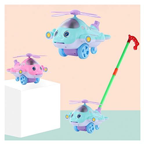 OYPY Baby Walker Carrito Cartoon Aeroplano Toy Trolley Outdoor Deportes Lengua out Mano Pulsero Paseo Drag Plane Plane Toys para Niños Regalo