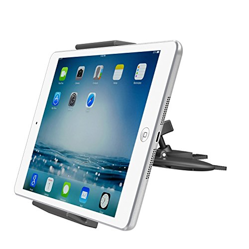 supporto tablet auto Supporto Universale per Lettore CD Auto per tablet APPS2Car Supporto per iPad 4 3 2 iPad Air iPad Mini 4 3 2 Samsung Galaxy Tab S E A Sony Xperia Tablet Z4 3 2 Google Nexus ASUS ZenPad LG Nokia N1 - iPhone 7 6 Plus Note 4 S8 GPS
