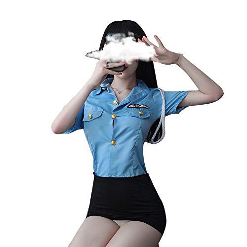 Gdofkh Set di Lingerie Cosplay Tentazione Uniforme da Marinaio da Donna Sexy Europea e Americana