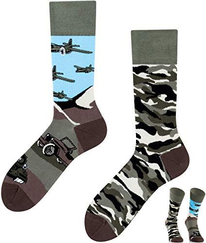 TODO COLOURS Lustige Socken mit Motiv - Land of Tanks Tank - verrückte bunte Socken Männer Frauen Jungen (43-46, Land of Tanks)