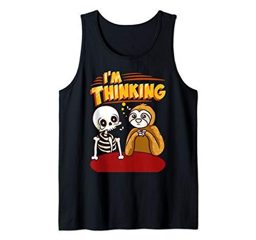 Waiting Skeleton Thinking Meme Dead Tank Top