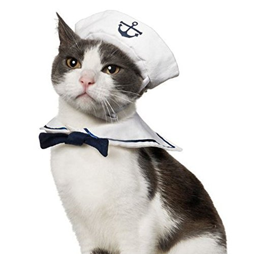 Namsan Katze hundekostüm Sailor Kostuem Hut Marine