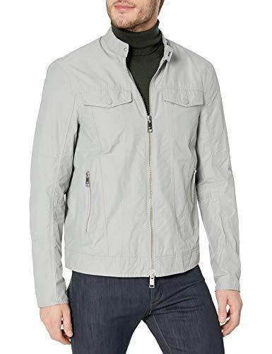 Armani Exchange A|X Herren-Jacke aus Nylon, zweifarbig, mit Reißverschluss - grau - Groß