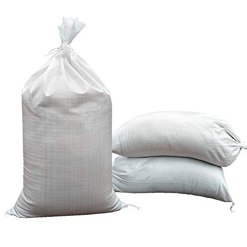 "SHOUTINN Empty Sand Bags – with Solid Ties, UV Protection Sandbags,14 "" x 26 "", Qty of 100"
