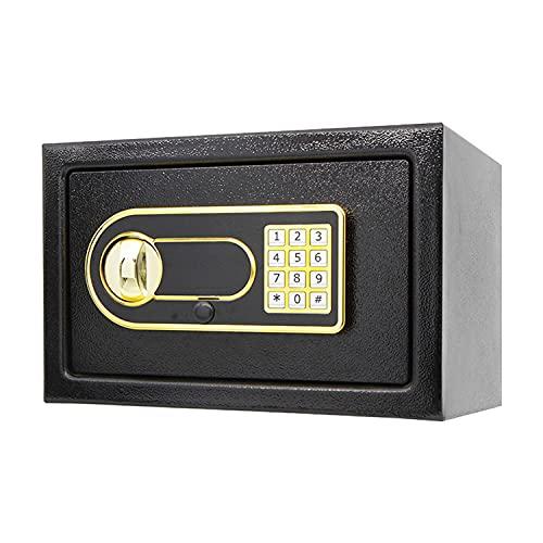 Caja De Caja Segura, Seguridad Electrónica Digital Caja De Seguridad Segura Caja Fuerte Caja De Caja De Seguridad Segura Digital Para Oficina Caja De Almacenamiento En Efectivo De Dinero (Color:negro)