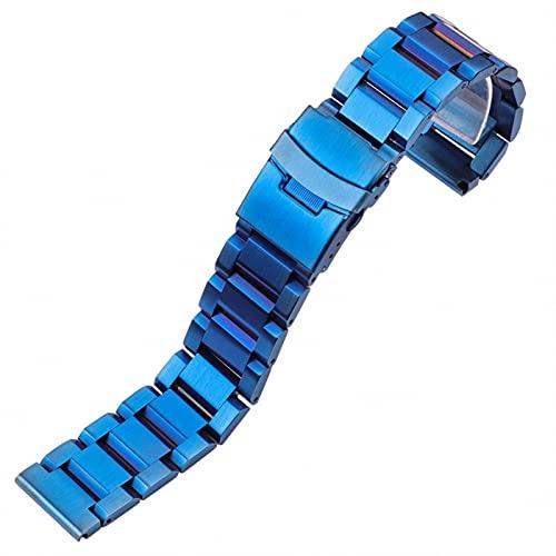 ENJY Correas de Reloj Pulsera de Acero Inoxidable Cepillado 18mm, 20 mm, 22 mm, 24 mm Pulsera de Banda de Reloj de Reloj de Reloj de Reloj de Reloj de Damas Doble Push Pulse Despliegue de Cierre