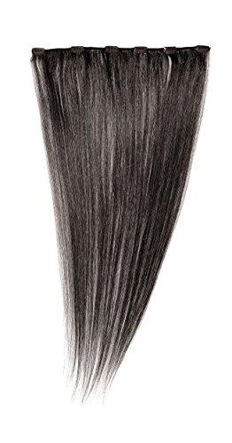 Love Hair Extensions - LHE/A1/QFC12/24/1B - 100 % Cheveux Naturels - Barrette Unique Extensions à Clipper - Couleur 1B - Noir Nature - 61 cm