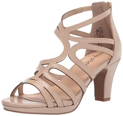 Easy Street Women's Heeled Sandal, Nude Pearlized, 8