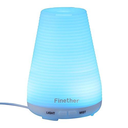 Mini Ultraschall LuftbefeuchterDuftzerstäuber Duft/Aroma Diffuser mit 7 LED Farbwechsel Ätherische ÖleAromatherapy Diffusor Vernebler Raumbefeuchter RaumluftbefeuchterLuftbefeuchtungsgeräte 100ML