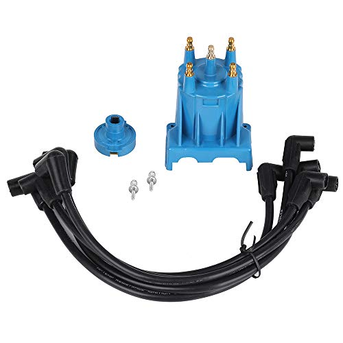 Ignition Tune Up Kit with Distributor Cap and Rotor and Spark Plug Wires Set Replacement for 3.0L 4cyl MerCruiser Engines Made by GM with Delco EST Ignition Systems - Replace 811635Q2, 816761Q14