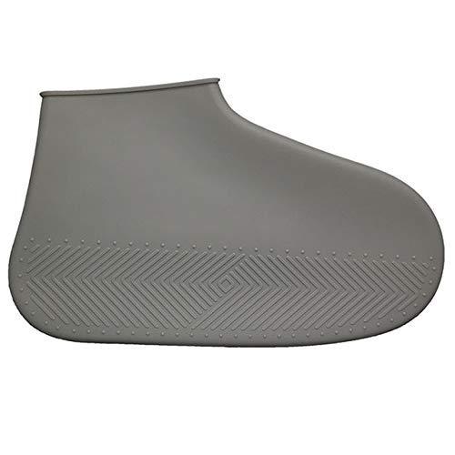 Yongqin Cubrezapatos Impermeables Reutilizables Antideslizantes Cubrezapatos Impermeable Silicona Cubrezapatos Cubrezapatos Para Lluvia Al Aire Libre S/M/L Zapatos Accesorios - Gris, M