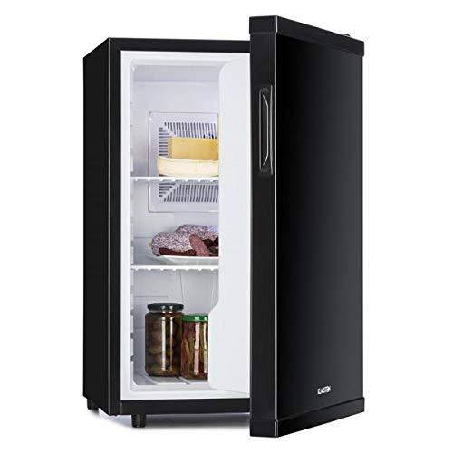 Klarstein Beerbauch Minibar Mini-Kühlschrank Getränkekühlschrank (EEK: A, 65 Liter, ca. 46 x 74 x 54,5 cm, besonders geräuscharm, 2 Regaleinschübe, 5-stufiger Temperaturregler) schwarz