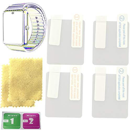 OCTelect Bildschirmschutzfolie für Yamay Bluetooth Smartwatch SW016 Touch-Farbdisplay Bildschirmschutzfolien mit 4 Stück in einer Packung